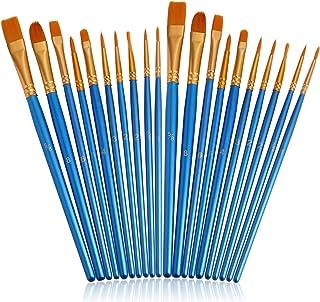 مجموعه قلم موهای JOINREY ، 20 عدد برس رنگی نوک تیز ، برس های آکریلیک ، نایلون