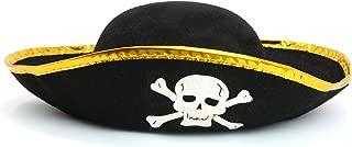 Skeleteen Tri Corner Pirate Hat - Three Cornered Buccaneer Costume Accessory Hat - 1 Piece
