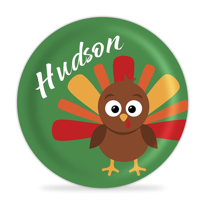 Thanksgiving Plate Same day San Antonio Mall shipping - Green Baby Personalized Owl Melamine Turkey