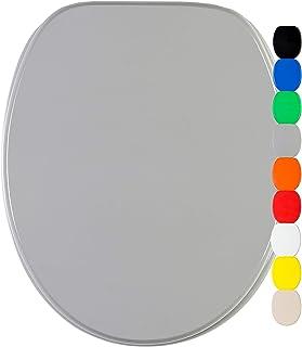 Abattant WC frein de chute soft close - Grande sélection de abattants wc unis - Finition de haute qualité (Gris)