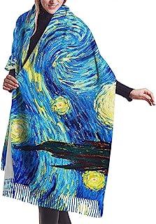 Joy Edward Donna Sciarpa Scialle Inverno Coperta Invernale Sciarpa Cashmere Pashmina Morbida Sciarpa Calda Mandorlo in fiore di Vincent Van Gogh 77x27 in