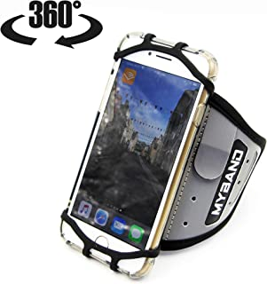 Phone Armband for Running -Sport Fitness Universal Forearm Holder -iPhone 11 Pro Max XR XS X 8 7 Plus -Samsung Galaxy S10 S9 +Edge Note 10 9 -Google Pixel -360° Rotatable -Hidden Pocket Key Holder
