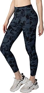 coastal rose Women's Yoga Pants 7/8 High Waist Workout Leggings Sport Compression Tights with Pocket