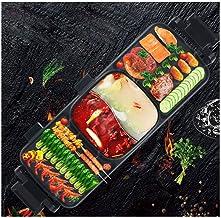 RHSMP Asador Multifuncional para El Hogar Una Olla Bandeja Eléctrica para Hornear Brocheta De Carne Sin Humo Máquina De Barbacoa Adecuado para Reuniones Familiares Picnics
