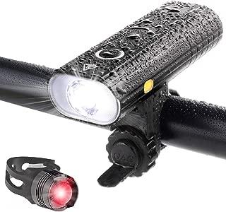 自転車 ライト LED 防水 800ルーメン 2600mAh 大容量電池 USB充電式 自転車用ヘッドライト クロスバイク ロードバイク ライト ゴムシート付き テールライト付属 バッテリーインジケーター サイクルライト bike light 高輝度 長時間 夜間 キャンプ ハイキング サイクリング 懐中電灯 5つ 照明モード 点滅 スポーツ 防災 緊急対応