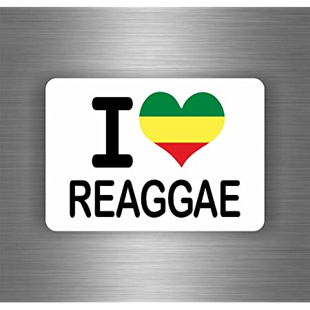 Akachafactory Selbstklebend Sticker Auto Rasta Jah Reggae One Love Löwe Jamaikanische Flagge Ref4 Auto