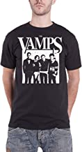 The Vamps T Shirt Group Up Band Photo Distressed Logo Official Mens Black