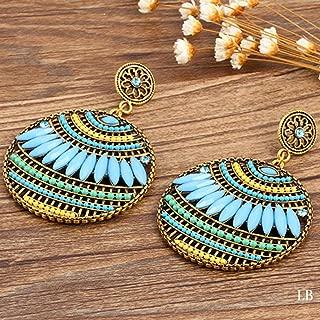BGTKD Earring Round Big Pendant Resin Earrings For Women