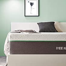 Queen Size Mattress, 10 Inch Iyee Nature Cooling-Gel Memory Foam Mattress Bed in a Box, Supportive & Pressure Relief with ...