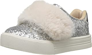 Girls' Blanche Sneaker, Silver, 8 M US Toddler