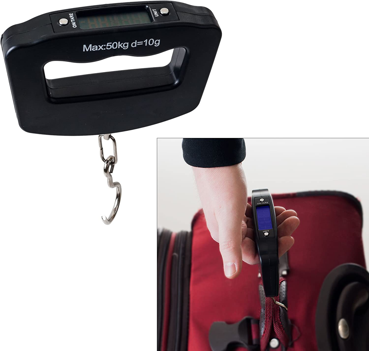 Northwest Digital Luggage Grip Scale-Up to 110 Pounds, Black : Clothing, Shoes & Jewelry