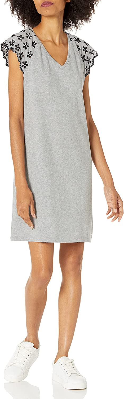 Tommy Hilfiger Women's Pique Eyelet Sleeve Dress