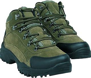 曼熙威 男士户外登山鞋 野营徒步鞋 纯皮防水 保暖陆战靴