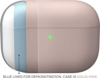 KeyBudz HybridShell Compatible with AirPods Pro Case Cover Protective Hard (Without Carabiner, Pastel Pink)