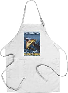Northern Ontario, Canada - Trophy Fishing - Cutthroat Trout (Cotton/Polyester Chef's Apron)