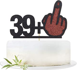 Glitter 40 Cake Topper-Funny 39+1 Birthday Cake Decorating-Happy 40th Birthday Party Decoration Supplies