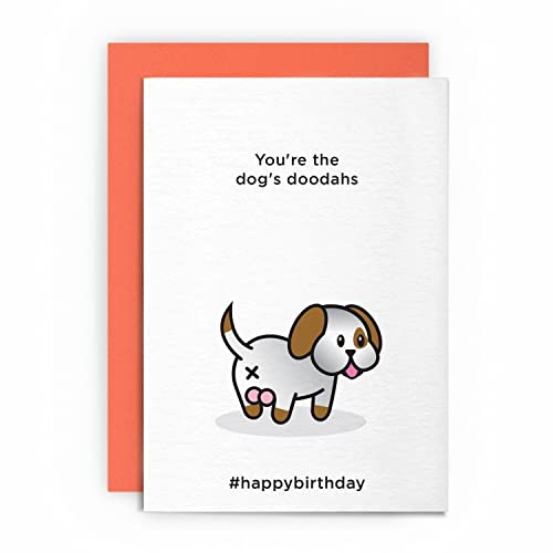 Birthday Card Dog Funny Rude Humorous YouRe The Dogs DOODAHS Friend Boyfriend
