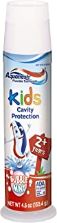 Aquafresh Kids Pump Cavity Protection Bubble Mint Fluoride Toothpaste for Cavity Protection, 4.6 ounce, Pack of 6