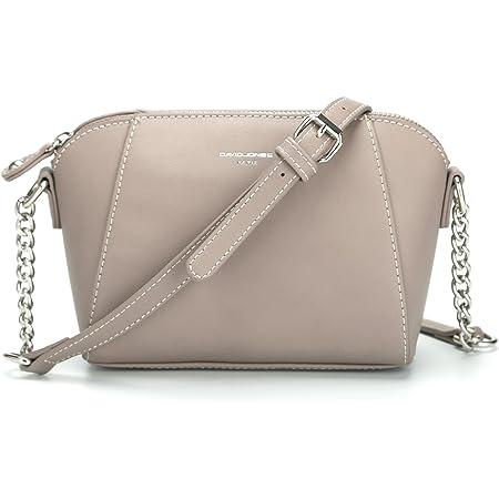DAVIDJONES Damen PU Leder Crossbody Umhängetasche Sattel Handtaschen
