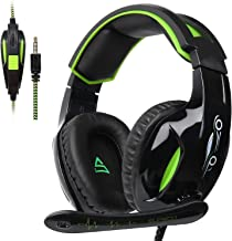 SUPSOO G813 PS4 Xbox One Gaming Auriculares de 3,5 mm cableado Over-Ear Ruido de Aislamiento de Control de Volumen de micrófono para Mac/PC/Laptop/PS4/Xbox One-Negro