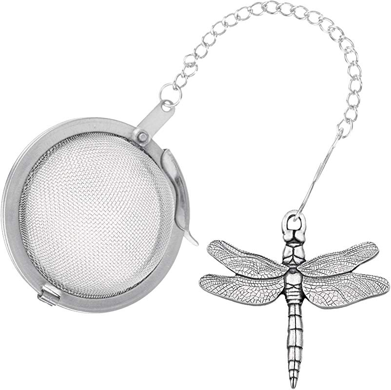 Danforth Dragonfly Pewter Tea Infuser Handcrafted Gift Boxed Made In USA
