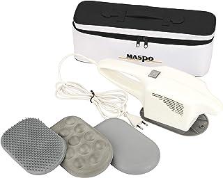 MASPO Vibramat de Luxe con 3 accesorios de masaje y una elegante bolsa de transporte PROFI Massager Masajeador de área grande