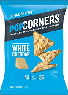 PopCorners White Cheddar Snack | Gluten Free Snack | (12 Pack, 7 oz Snack Bags)