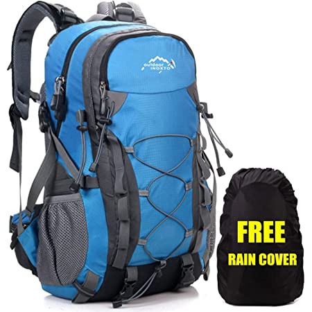 Meisohua Mochila de Senderismo, 40L Impermeable Mochila de Escalada para Camping Ciclismo Deportes al Aire Libre Morral para Viajes Acampadas