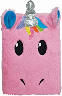 iscream Furry Unicorn Embroidered Accent Book-Bound Lined-Page 8.5