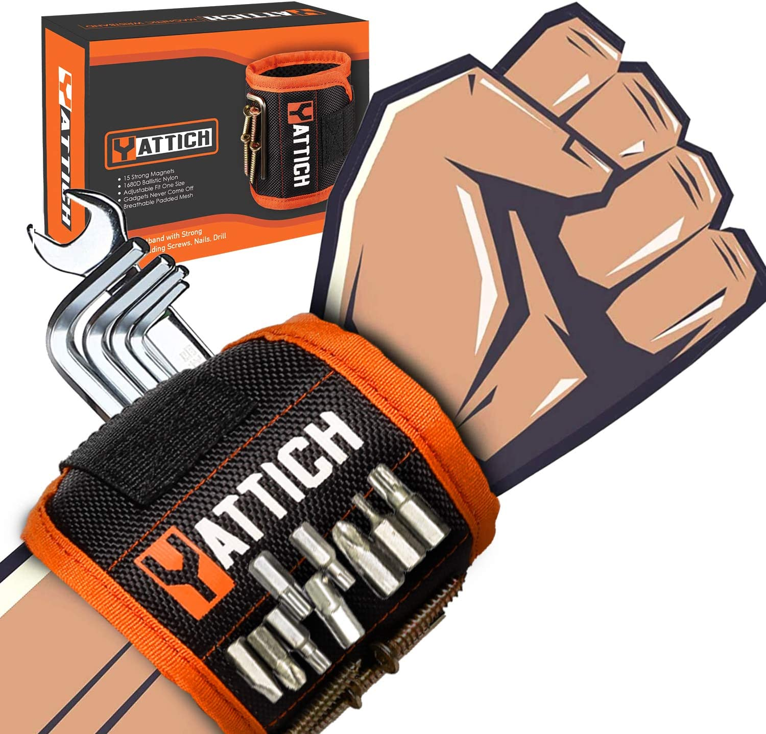 YATTICH Magnetic Wristband for OFFicial mail order Holding Choice fo Screw Belts Tool Gift