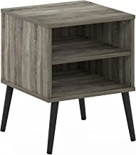 Furinno Claude Mid Century Style End Table with Wood Legs, French Oak