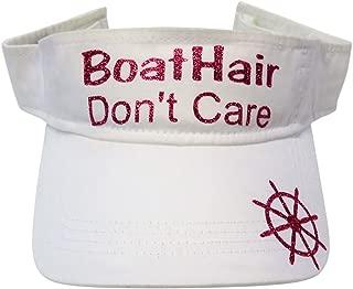 Glitter Boat Hair Don't Care Cotton Visor Fashion Summer