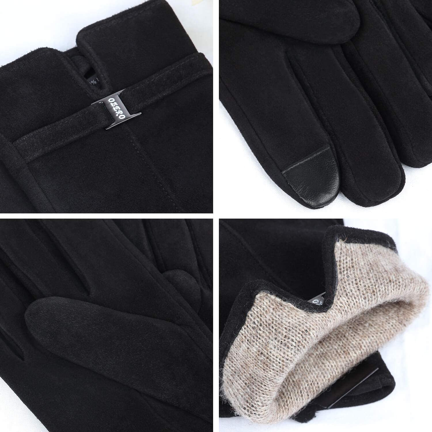 OZERO Women Touch Screen Thermal Gloves for Winter Cycling /& Running /& Motorbike