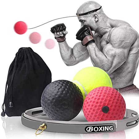 HEELPPO Boxing Reflex Ball Boxing Head Ball Boxing Equipments For Home Boxing Ball Reflex Ball Training Ball Boxing Fight Ball Reflex Boxing Training Equipment Reaction Ball Boxing