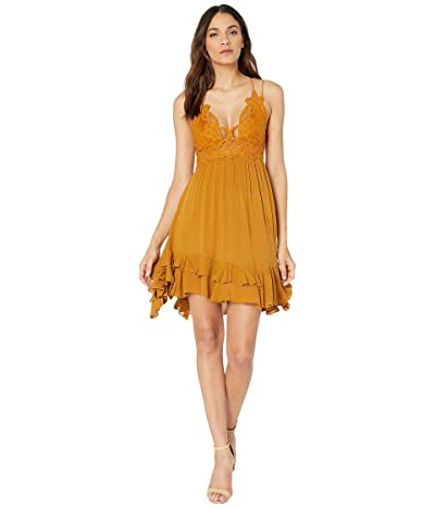 Free People Adella Slip (Gold) Women