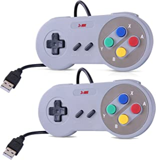 HDE Classic USB Gamepad Retro SNES Styled Controller for PC / Mac / Windows / Linux / Raspberry Pi (Two Pack)