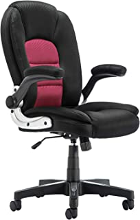 SP Mesh Office Chair Adjustable Tilt Angle and Flip-up Arms Executive Computer Desk Chair, Thick Padding for Comfort and Ergonomic Design for Lumbar Support (2878rd)