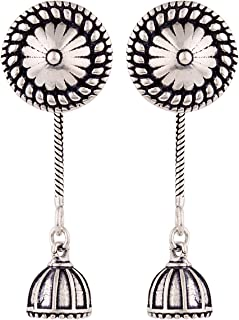 Voylla Drop Earrings for Women (Silver)(8907617869162)