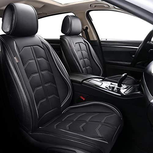 new arrival Coverado Front Seat Covers, online Waterproof Leatheratte Car Seat Protector 2 Pieces, Protective Seat Cushions Universal Fit sale Most Vehicles, Sedans, SUVs, Trucks and Vans, Line Pattern sale