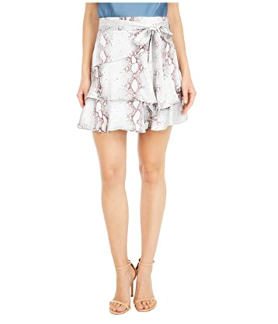 Bishop + Young Aster Ruffle Mini Skirt (Rain Python) Women