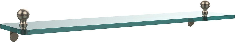 Allied Brass MA-1 22-Pew 22 by 5-Inch Single Glass Shelf