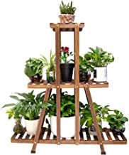 MUDEELA 3 Tier Wood Plant Stand, Indoor Tall Plant Stand for Living Room Corner, Multiple..
