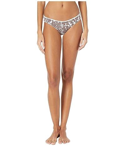 Maaji Sublime Reversible Signature Coverage Bikini Bottoms (Sugar White Rib) Women