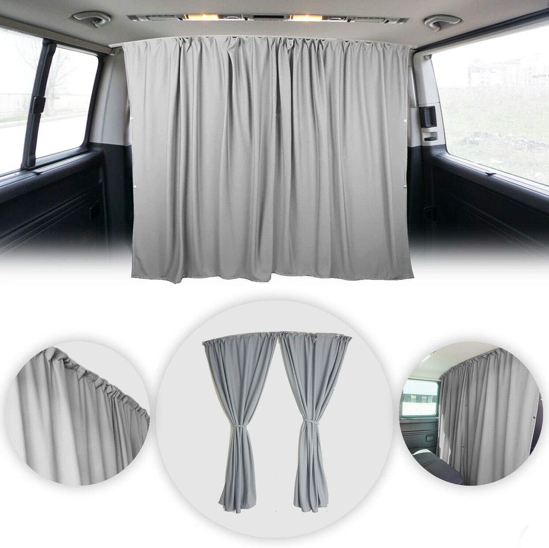 OMAC 70% OFF Outlet Van Cab Divider Curtains Sacramento Mall Campervan Sunshade Kit Blinds Grey