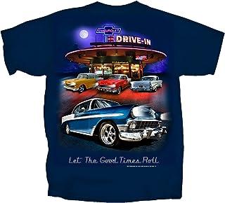 Joe Blow Men's Chevy Bel Air Tri-Five Retro Drive-in T-Shirt