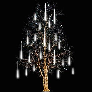 Adecorty Falling Rain Lights Meteor Shower Lights Christmas Lights 30cm 8 Tube 144 LEDs,..