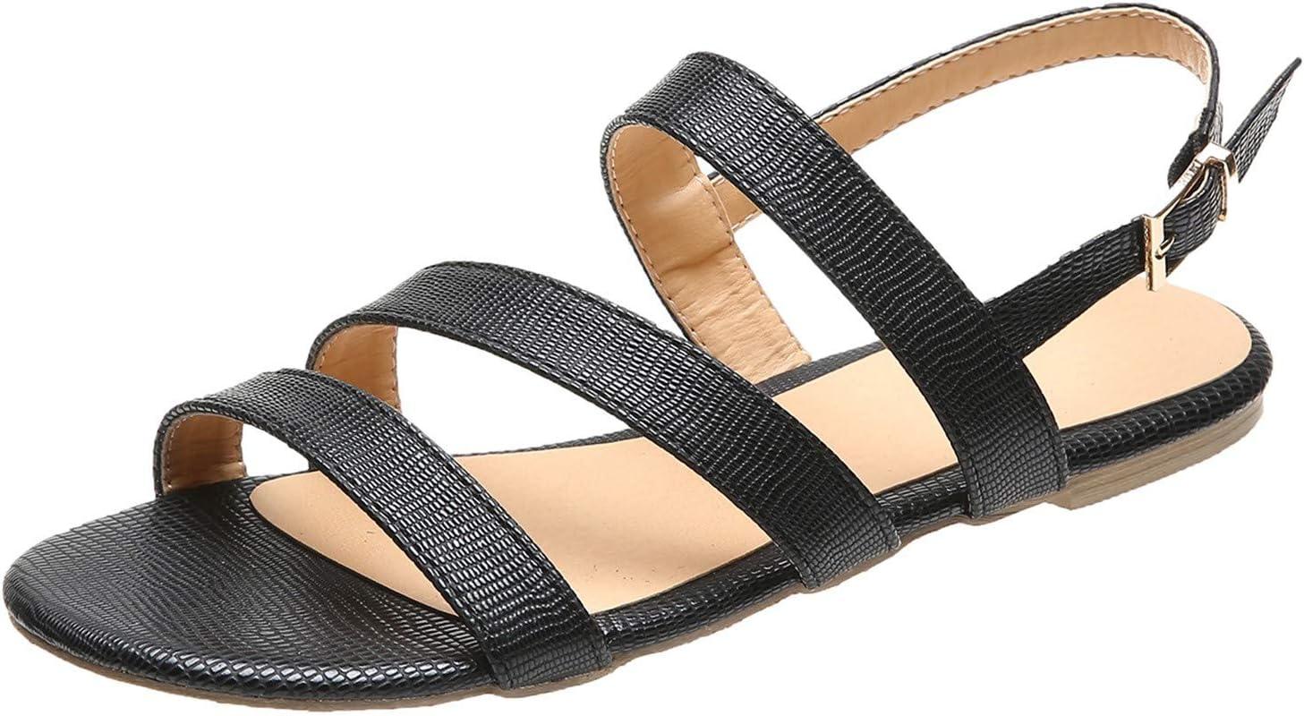 Women Strap Adjustable Buckle Platform security Max 47% OFF Casual Flat Cork Sandals