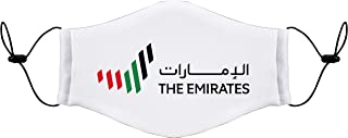 UAE LOGO 7Lines Reusable Washable Mask Size with adjustable Ear loop -Size 20x13 cms