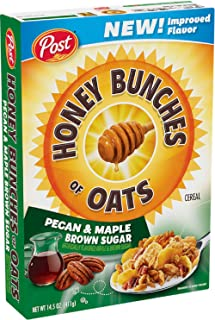 NEW! Honey Bunches of Oats Pecan & Maple Brown Sugar 14.5 oz ( 2 Pack)