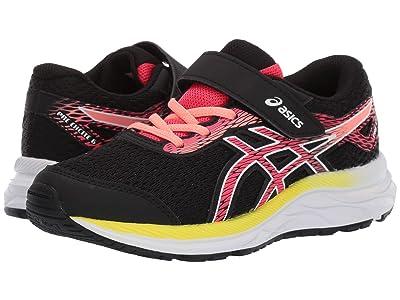 ASICS Kids Gel-Excite 6 (Toddler/Little Kid) (Black/Laser Pink) Girls Shoes